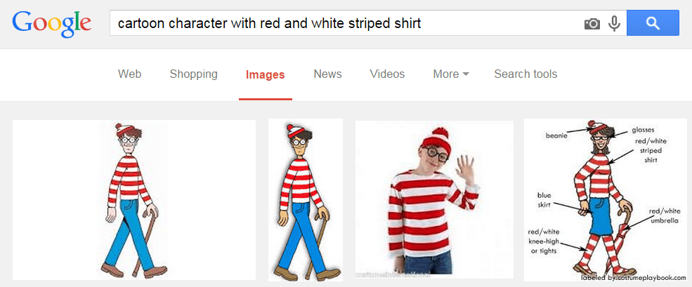 Using Google image search