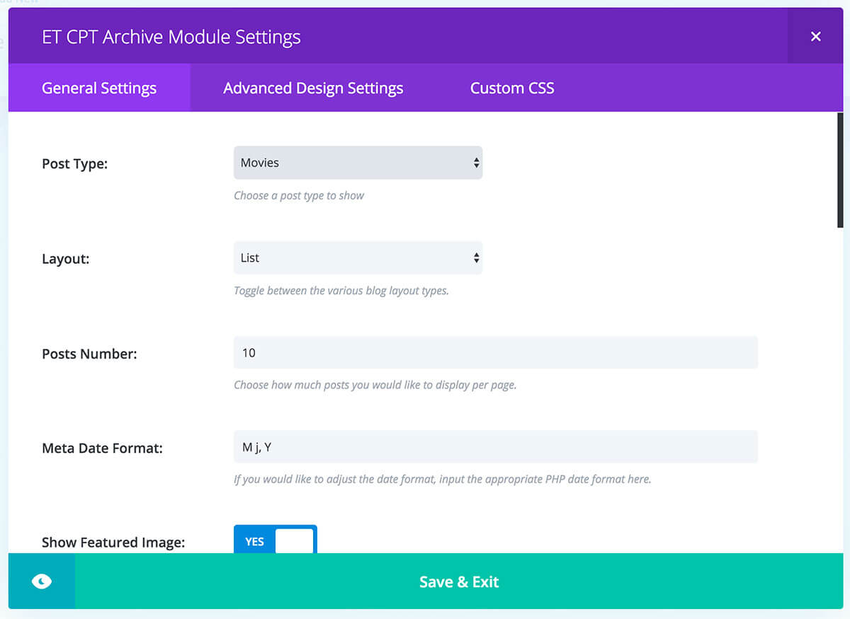 show recent posts on custom page