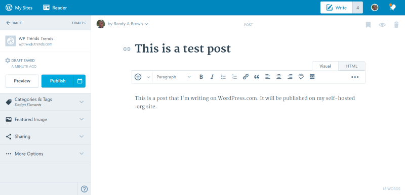 Calypso – a New WordPress Editor for WordPress.com