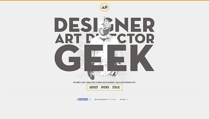 Alex Pierce Homepage Design Example