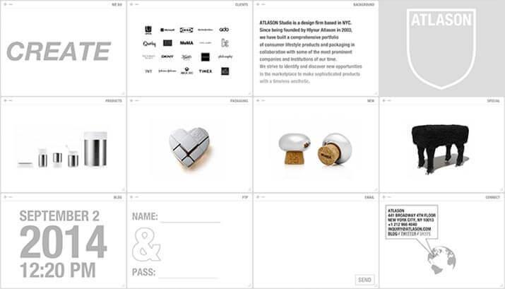 Atlason Homepage Design Example