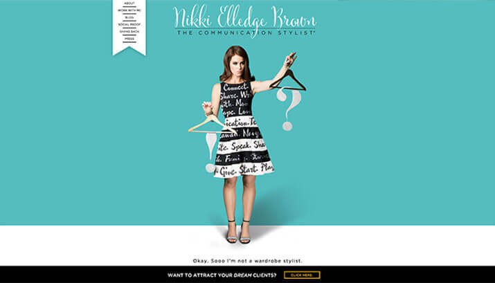 Nikki Elledge Brown Homepage Design Example