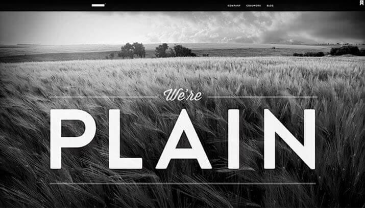 Plain Homepage Design Example