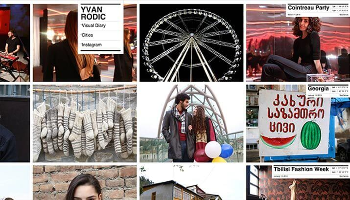 Yvan Rodic Homepage Design Example