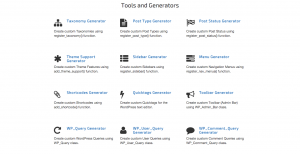 GenerateWP User friendly tools for WordPress developers