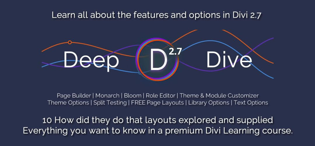 Deep Dive into Divi is here!