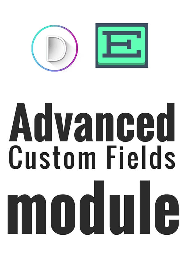 Advanced Custom Fields Module for Divi Theme