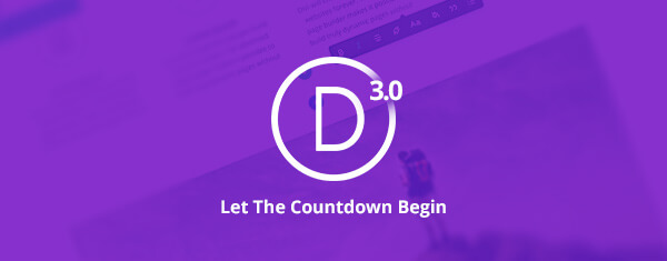 Divi 100 : The countdown to Divi 3.0