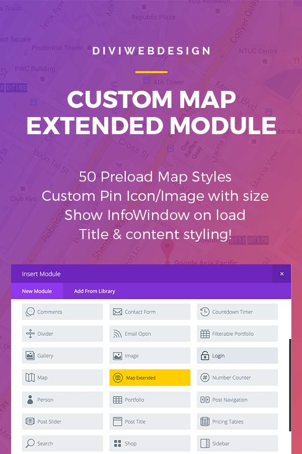 Divi map extended module subscription - Divi map module ...