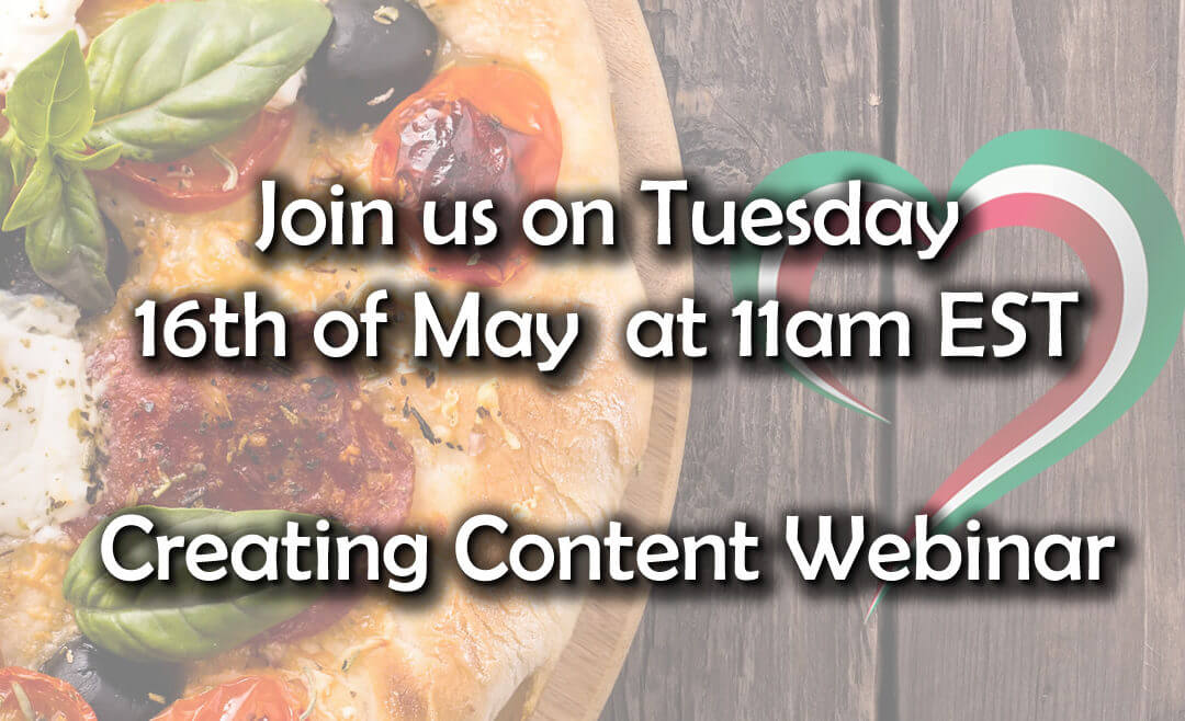 Webinar Reminder  – Creating Content on the Fly