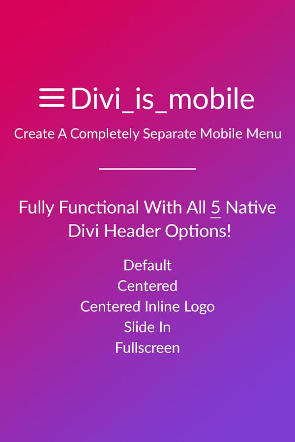Divi is mobile a separate mobile menu - Divi mobile menu ...