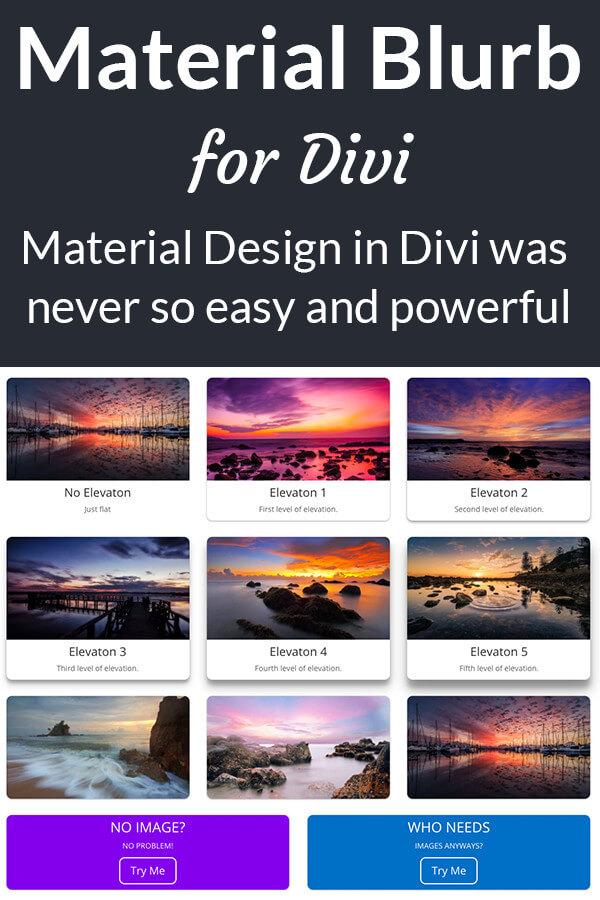 Material Blurb for Divi