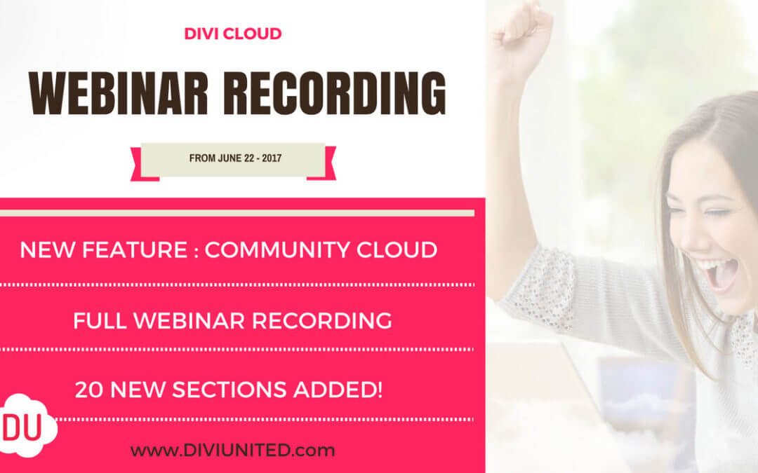 Divi Cloud Meet Up Video Playback