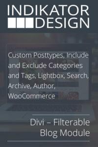 Divi – Filterable Blog Module