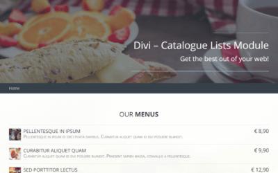 Plugin Spotlight: Divi Catalogue List Module