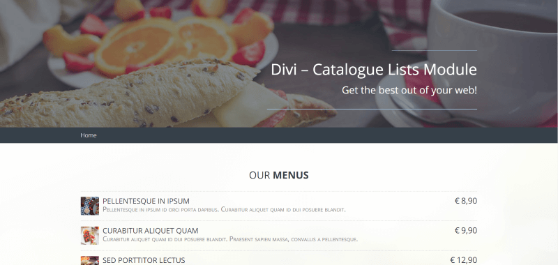 Plugin Spotlight: Divi Catalogue List Module