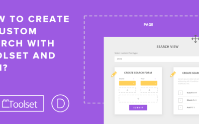 How to create a search using Divi, Toolset, and the Toolset for Divi plugin