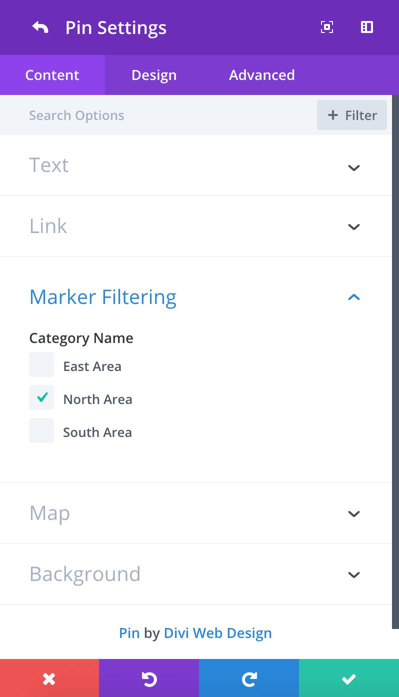 Divi map extended module - Divi map module ...