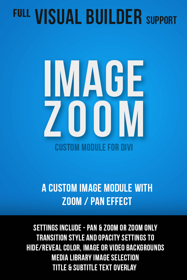 Image Zoom Module for Divi