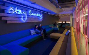 Huckletree's Shoreditch Workspace Accelerator Lounge Area