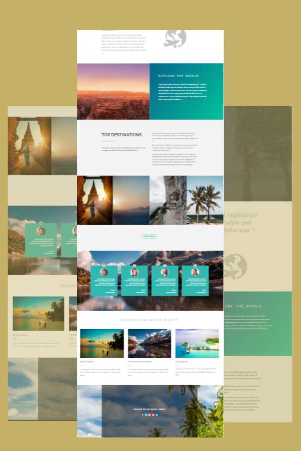 Travel-Agency Divi Layout
