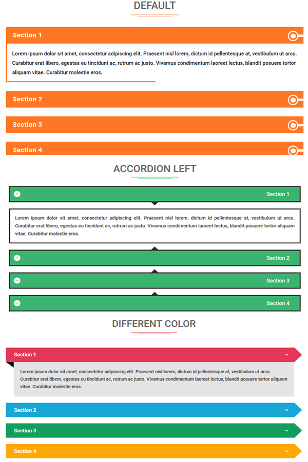 Divi Accordion Module Bundle 1 (Template 1-10)