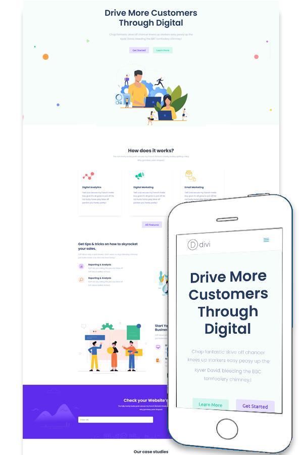 SaaS App - Divi Layout