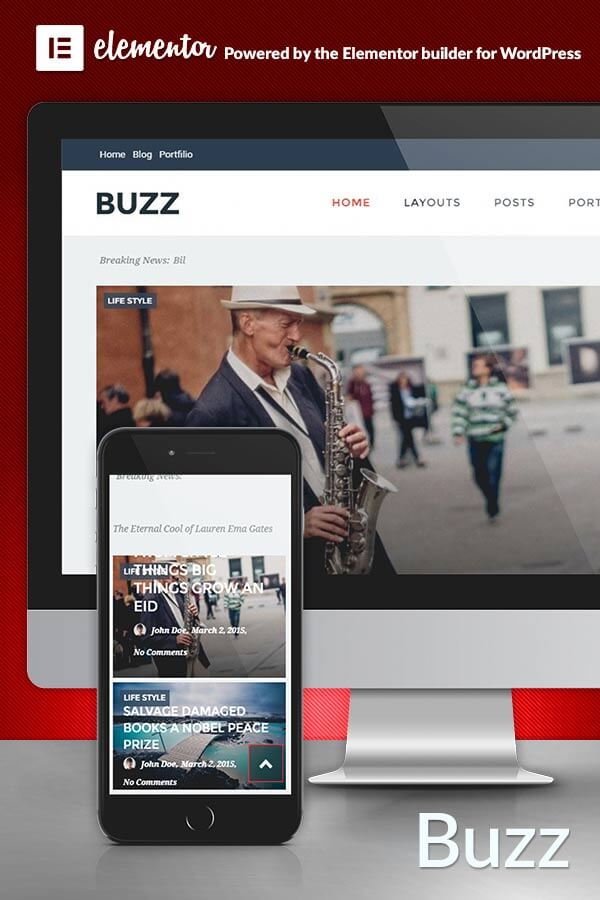 Buzz WordPress Theme for Magazines
