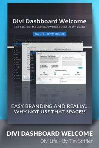 Divi Dashboard Welcome WordPress Plugin