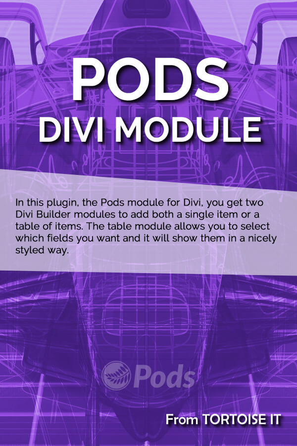 Pods Module for Divi
